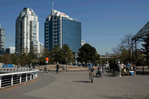 Biking is a very popular activity among Vancouverites
