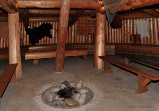 Inside one of the pit houses at XayTem, you can see the way they lived and take a glance at their multiple activities