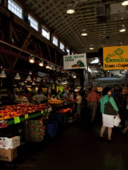 The Market at Granville Island is great for buying fresh fish, fruits and vegetables
