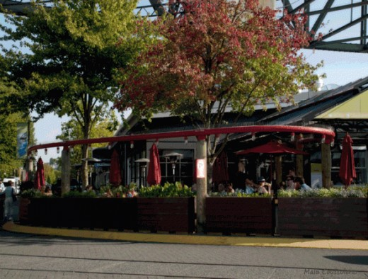 Restaurants and coffee shops at Granville Island