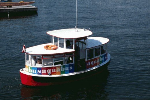 The Aquabus goes from two different spots in Vancouver to Granville Island.