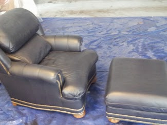 The finished product~ Leather Furniture Color Repair restores leather!!