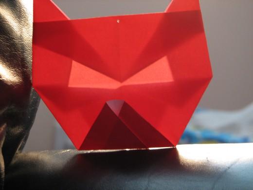 Simple origami cat.