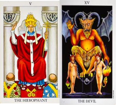 The Hierophant and the Devil