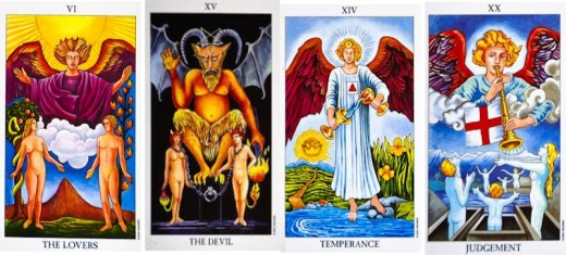 The Lovers, Temperance, the Devil and Judgement