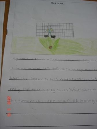 2.b An example of the writing resulting from the whole class modelling.