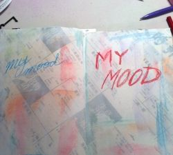 Creating a mood with art journal pens