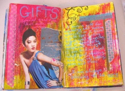 Use Deco Tape in your Art Journal to Make Borders and Corners