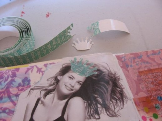 Make a Sticker Out Of Washi Tape