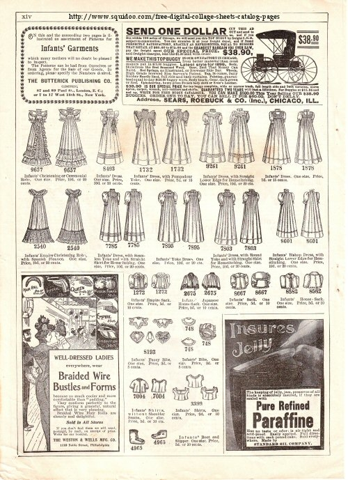 Free Digital Collage Sheet Victorian Catalog Page