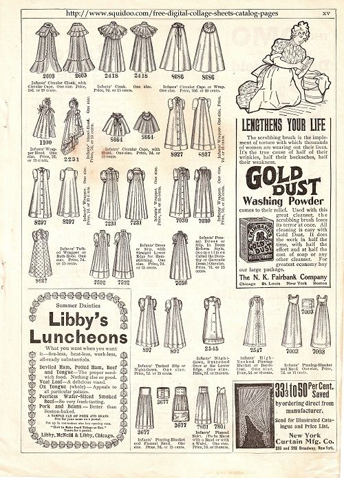 Free Printable Collage Sheet with vintage fashions and ads