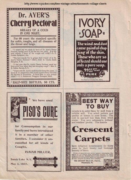 Vintage Ads Collage Sheet