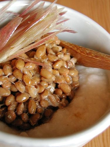 natto with yam and ginger