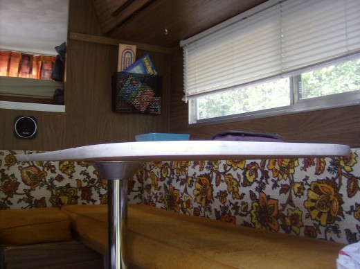 The Inside Of Our Camping Trailer From Last Year