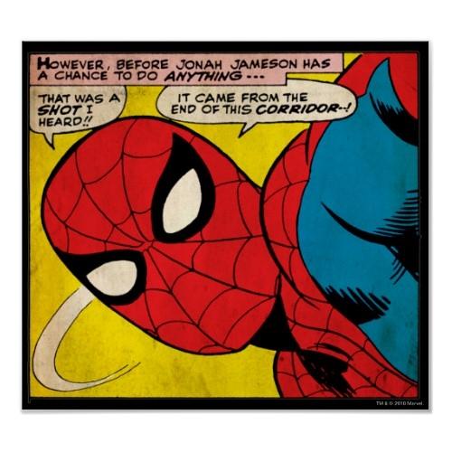 Spiderman Close-up Slide Poser