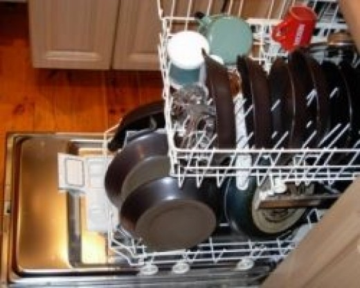 Let you dishes air dry to save energy.