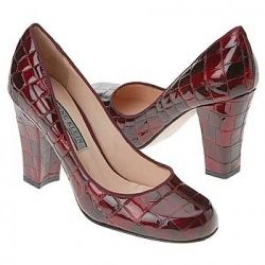 1940's Style Pumps with Reptile Skin Patten