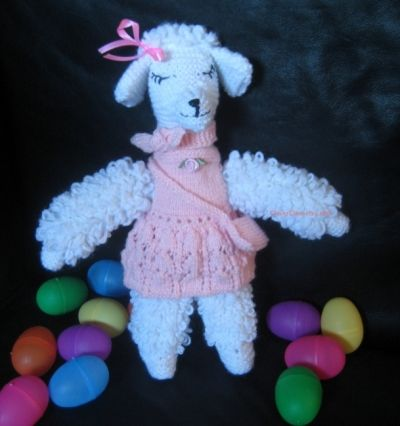 Knitted Toy - fashion Dog - Josephine the Poodle