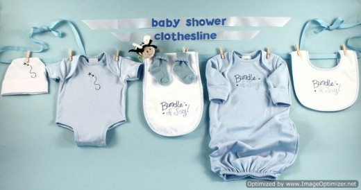 Baby clothes line - very cute when hanging!