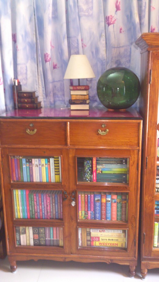 Teak wood book cupboard