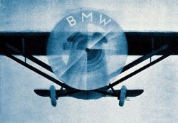 BMW logo and airplane