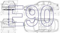 BMW 3 series 2008 facelift E90 blueprint