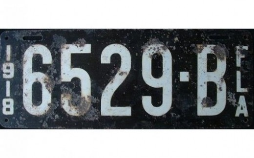 1918 - FloridaLast state to issue state-wide license plates