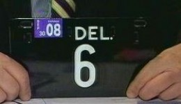 Delaware number 6 plate