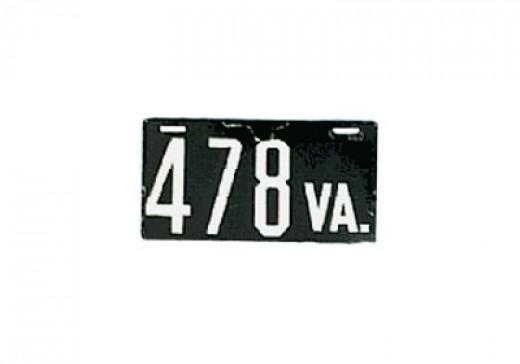 1906 - Virginia - $12,000Same as 1913 N.Carolina - porcelain plate that broke easily