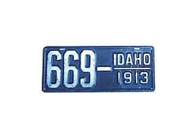 "1913 - Idaho - $13,000Unusually large for American plates - 15 1/4"" by 6 1/14"""