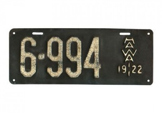 1922 - Hawaii - $30,000Creative design for its time - rare, since cars were rare on Hawaii