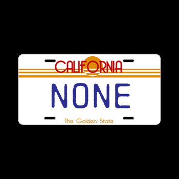 "Law enforcement agencies were instructed to write ""NONE"", if the cited vehicle didn't have any plates. Are you brave enough to order this plate?"
