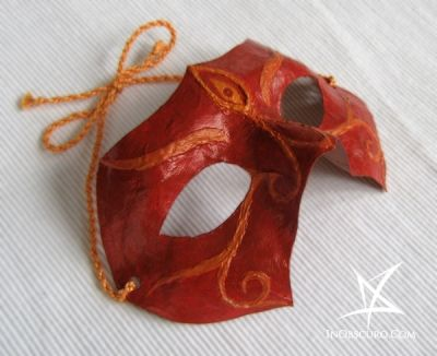 Oriental demon papier-mache mask