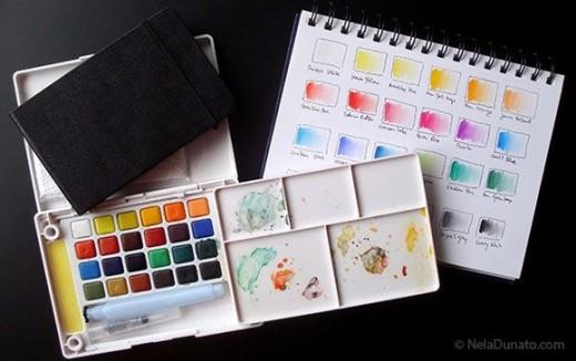 Sakura Koi watercolor field sketch set and sketchbooks