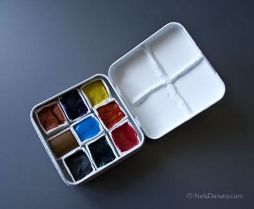 Handmade watercolor box