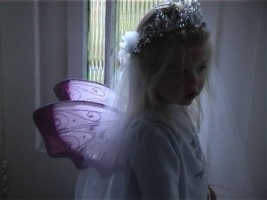 Toddler dressed as a fairy