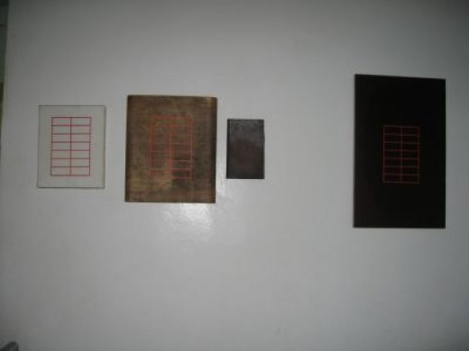"""2.Four piece artwork """"Book"""" by Ronald in 't Hout, Netherlands (1953 -)"""
