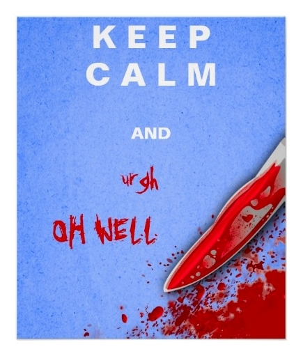 Keep Calm and Urgh Oh Well Bloody Halloween Poster