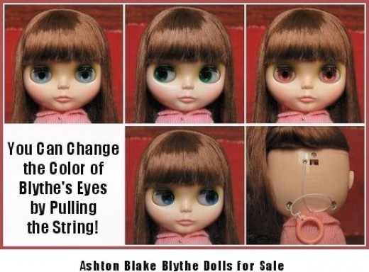 The Blythe Dolls' Eyes Can Change Color!