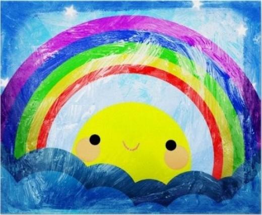 Happy Rainbow Poster from Zazzle