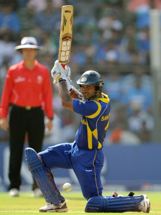 Nice shot by Sri Lankan captain Sangakkara