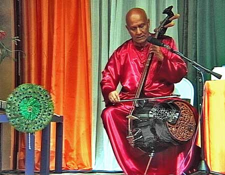 Sry Chinmoy plays double bass