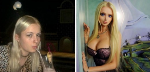 From a normal looking girl to a barbie doll look-a-like