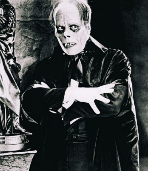Lon Chaney as Phantom of the Opera in the 1925 silent horror.