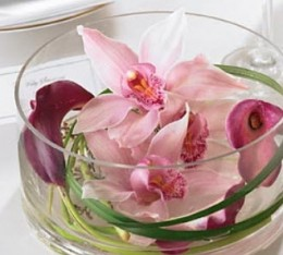 Cymbidium orchids and mini calla lilies by FTD Florists