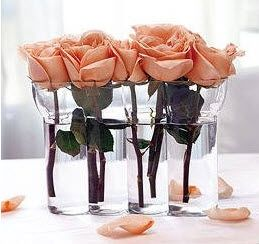 Single Rose Centerpieces by mydreamwedding.ca