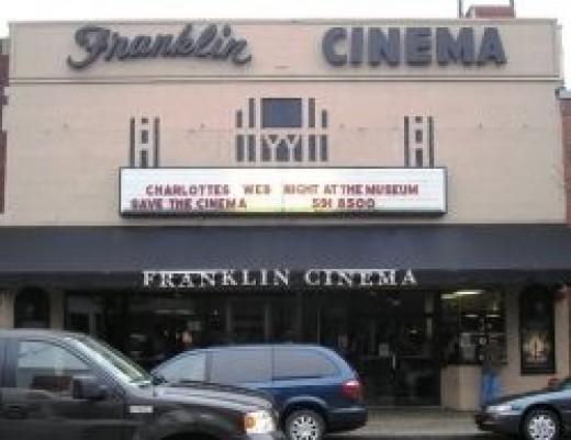 The Franklin Theatre prior to restoration.