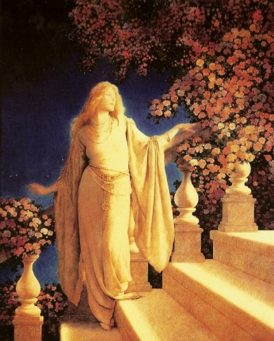 """Cinderella-Enchantment"" by Maxfield Parrish"
