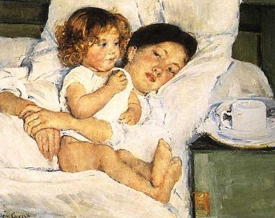 "Mary Cassatt, ""Breakfast in Bed"""