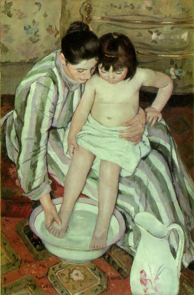 """The Bath"" by Mary Cassatt"